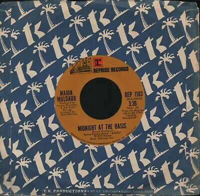 """Maria Muldaur - Midnight At The Oasis / Any Old Time - 7"""" single"""