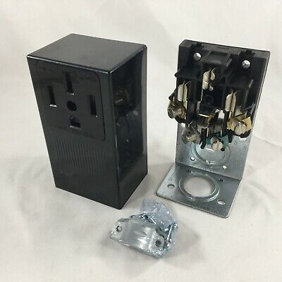 Leviton 55050 50A Surface Mount Power Outlet 30A-125/250V Black 078477982341