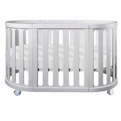 NEW Cocoon Nest Cot With Organic Bassinet & Cot Mattress - White