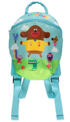 Hey Duggee Rucksack With Reins Boys Girls Toddler Backpack One Size Blue - NEW