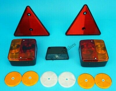 Rear Trailer Lighting Kit with Reflector Set and Number Plate Lamp