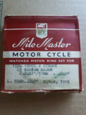 G.Y.S CYCLEMOTOR ATTACHMENT STD RINGS WELLWORTHY UK NOS 2 STROKE M151 #1238