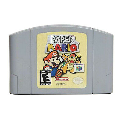 PAPER MARIO Game Card For Nintendo 64 N64 Console cartridge Card US Version