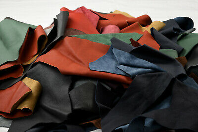 Assorted Upholstery Scraps - Cowhide Offcuts 1 -1.2 mm | Hand or larger