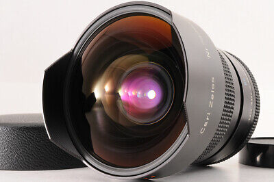 【MINT】Contax Carl Zeiss 15mm F/3.5 Distagon T* AEG MF Lens For C/Y + Caps JAPAN