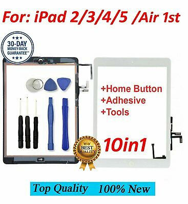 Replacement Touch Screen Glass & Digitizer For Apple iPad 2/3/4/5/ Air + Tools