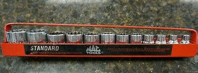 "MAC Tools 1 Piece 1/2"" Drive SAE Impact Socket Set w/ tray - Great Condition"