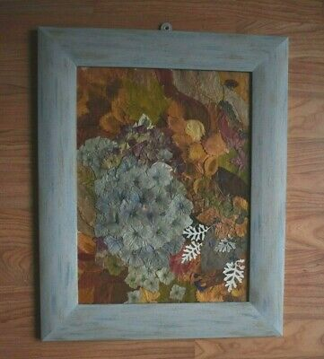 Botanical Wall Art In A Glass Frame, Real Dried Flowers 52x42cm