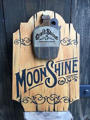 Moonshine Saloon Wood Sign Whiskey Bar Cigar Bar Tavern Old West Antique Look