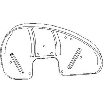 70224935 LH Left Hand Fender Made To Fit Allis Chalmers Tractor WD WD45