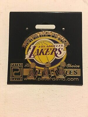 Los Angeles Lakers Pin Back to Back to Back  Peter  Davis  Collection
