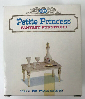 Petite Princess Fantasy Dollhouse Furniture Palace Table Set 1964 NEW Ideal Toy