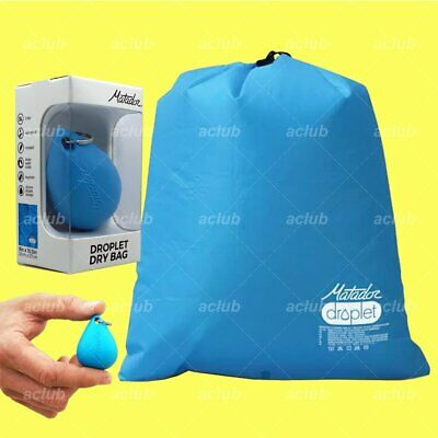 Matador Droplet 3L Bag for Wet Dry Outdoor Beach Gym Gear Silicone Storage BLUE