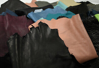 Assorted Sheepskin Remnants - Soft Sheep Leather pieces | LARGE SIZE 1- 2 sq ft