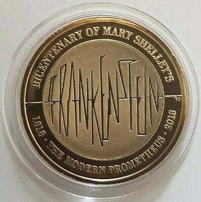 2018 Mary Shelley's Frankenstein Two Pounds £2 coin Brilliant Uncirculated BU UK