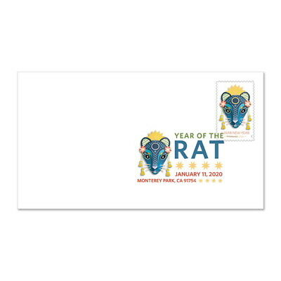 USPS New Lunar New Year - Year of the Rat Digital Color Postmark