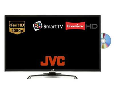"""JVC LT-32C795 32"""" Smart LED TV With Built-in DVD Player Full HD Freview HD Black"""