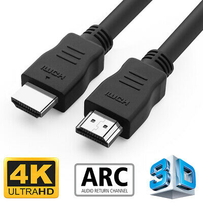 2M Long HDMI Cable High Speed v2.0 HD 4K 3D ARC For PS3 PS4 XBOX ONE SKY TV Lead