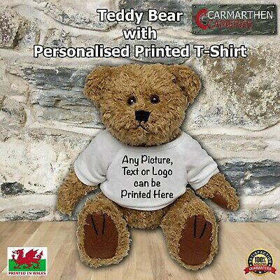 Valentines Teddy Bear With Personalised Names Heart T-Shirt