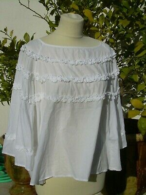 NEUF Joe Browns long shirt tunique taille 40-46 manches courtes blanc 537