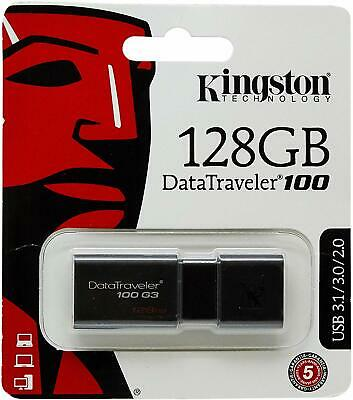 Kingston DataTraveler 100 G3 32GB 64GB 128GB USB 3.0 Flash Memory Drive Photo PC