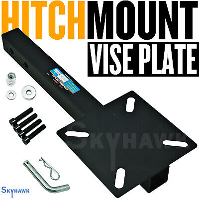 """Hitch Mount Vise Plate Hitch 2"""" Receiver 22"""" Long W/ Bolts & Nut NEW"""
