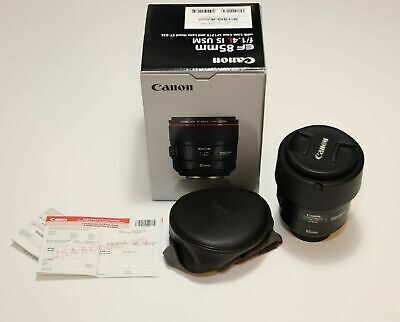 LNIB Canon EF 85mm f/1.4L IS USM Telephoto Lens, Hood and Pouch - Free S&H