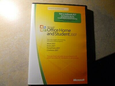 Microsoft Office Home & Student - 2007. Used but good condition. + install code