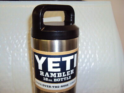 YETI Rambler 18oz Stainless SteelVacuum Insulated  Bottle with Cap OVER THE NOSE