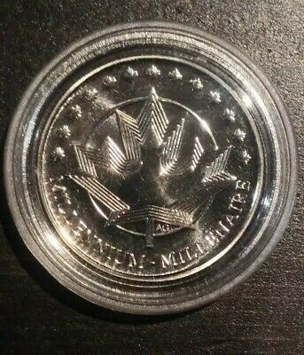 Canada 1999 Commemorative Millennium Coin/token in capsule