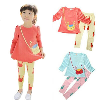 Tracksuit Outfit Girls Toddlers Clothes Spring Cotton Clothing T-shirt