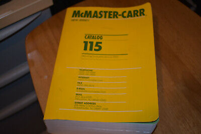 Mcmaster-Carr catalog #115 New Jersey