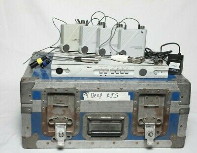RTS SERIES 2100 INTERCOM SYSTEM with 4 beltpacks