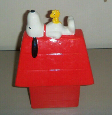 Snoopy with Woodstock Dog House Bank, Peanuts, New