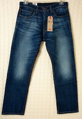 Men's LEVI'S 505 Jeans 100% Cotton Blue Denim Regular Straight Levis WATER<LESS