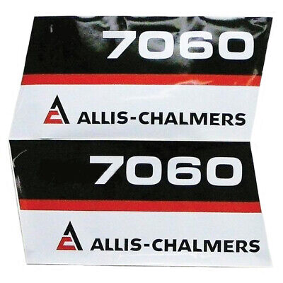 Hood Decal Set for Allis Chalmers Tractor 7060 AC Tractors