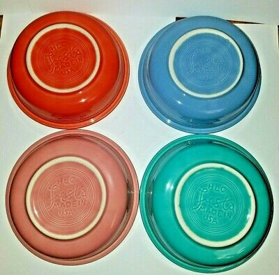 LOT of 7 Plates & Bowls Authentic FIESTAWARE HLC Homer Laughlin Made In USA
