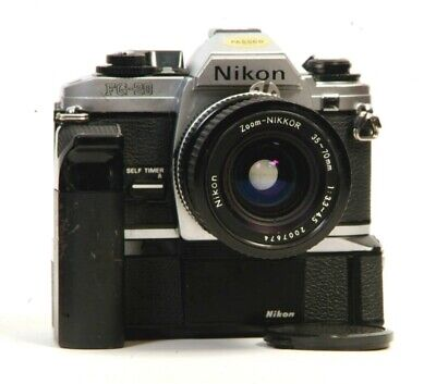 NIKON FG Bundle with Motor Drive and NIKKOR Zoom Works Great!!