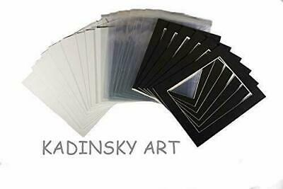 """Pack of 20 - Picture Photo Mounts, Backs and Clear 10""""x8"""" To Fit 6""""x8"""","""