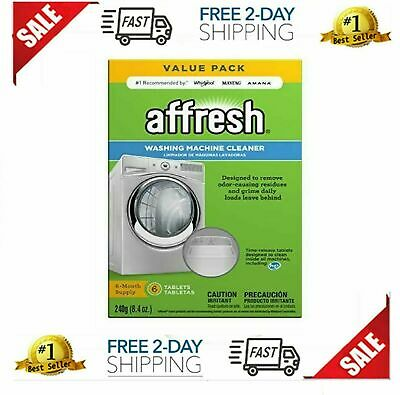 Affresh Washer Machine Cleaner 6-Tablets Front & Top Load Machines  8.4 oz