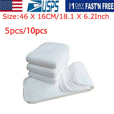 New 5pcs Infant White Ecological Cotton Baby Cloth Diaper Washable Nappy