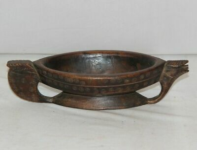 Antique Opium Holder Wooden Pounder, Mortar, Miniature Hand Carved Collectible