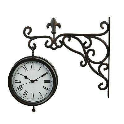 Widdop W7546 Wall Bracket Hanging Traditional Double Sided Clock