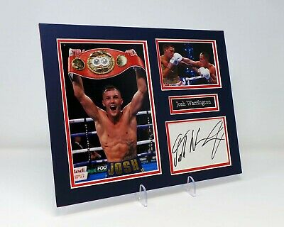 "Josh WARRINGTON Signed Mounted Photo Display AFTAL Boxer ""The Leeds Warrior"""