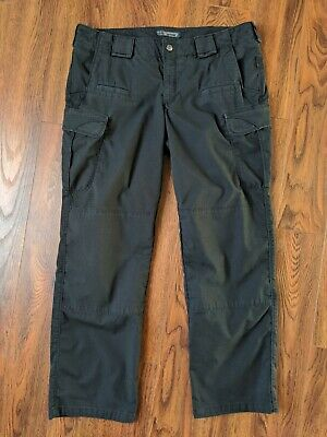 5.11 Tactical Cargo Women Pants Sz 16 Reg Polyester Cotton  Blend  Black