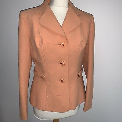Vintage 80s Windsmoor Peach Textured Jacket Blazer 12