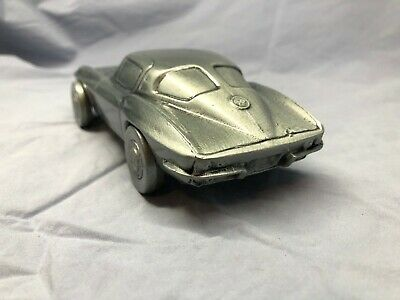 NEW 1963 Chevy CORVETTE Metal Auto Coin Bank by Banthrico Original Box vintage