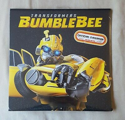 NEW & SEALED 12 Month 2019 Official Calender - Transformers BumbleBee