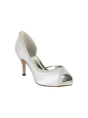 Rainbow Club Carrie UK 6 Size 39 Ivory Fine Shimmer wedding bridal shoes BNIB