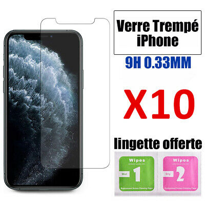 Verre Trempe Iphone Film Vitre Protection Ecran 11 Pro Max 6 7 8 Plus X Xr Xs